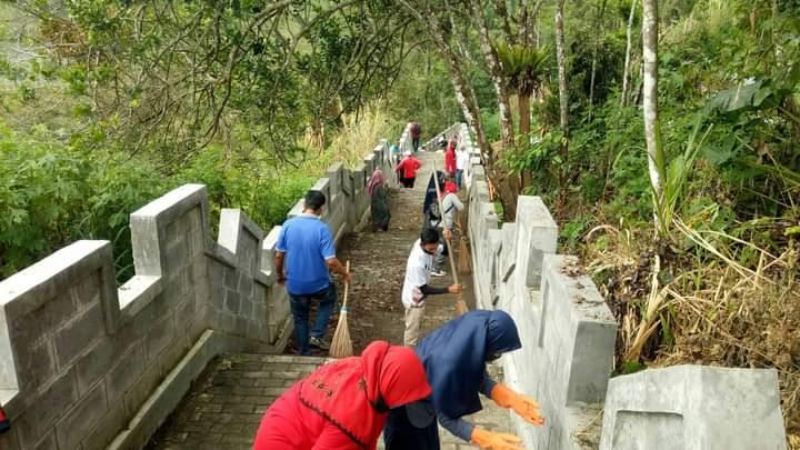 Disparpora Agam Gelar Bakti Wisata di Objek Wisata Sajuta Janjang
