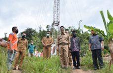 Kunjungi Pemasangan Tower Combat, Bupati Agam Upayakan Pasang Wifi di Palupuah
