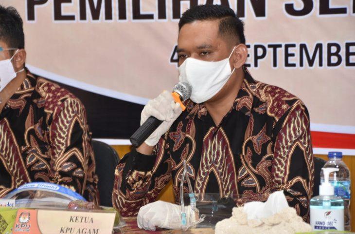 Pilkada 2020, 4 Bapaslon Kepala Daerah Agam Telah Mendaftar ke KPU