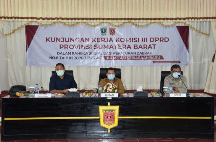 Komisi III DPRD Sumbar Sosialisasi Perda AKB di Agam