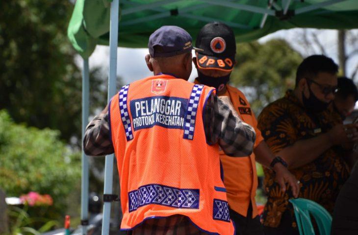 Tak Pakai Masker, 42 Orang Disanksi di Kawasan Pasar Magek