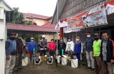 Pemerintah Kecamatan Tanjung Mutiara Semprot Disinfektan di Fasum