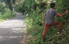 Digagas KPGH Pemuda Sungai Batang Gelar Goro Pembersihan Jalan