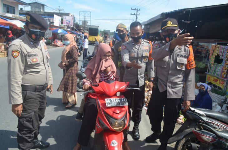 Operasi Yustisi di Pasar Bawan, 46 Orang Diberi Sanksi Sosial atau Membayar Denda