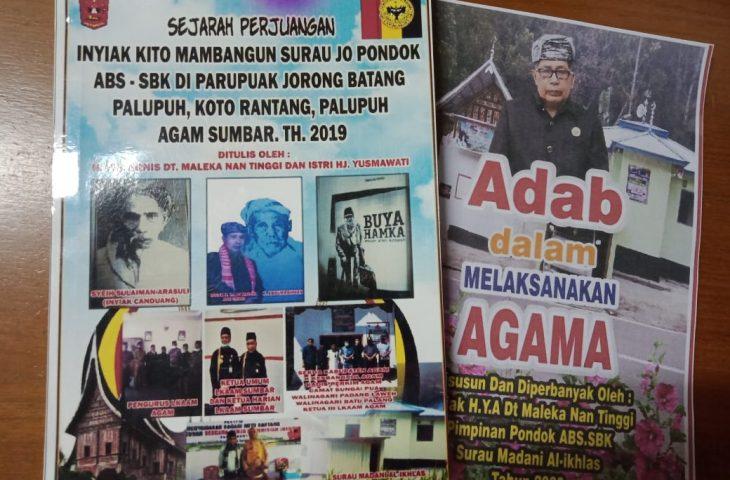Pjs Bupati Agam Apresiasi Ketua LKAAM Abadikan Ilmu Dalam Bentuk Buku