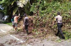 Warga Jorong Pasa Maninjau Bersihkan Material Longsor di Ruas Kelok 44