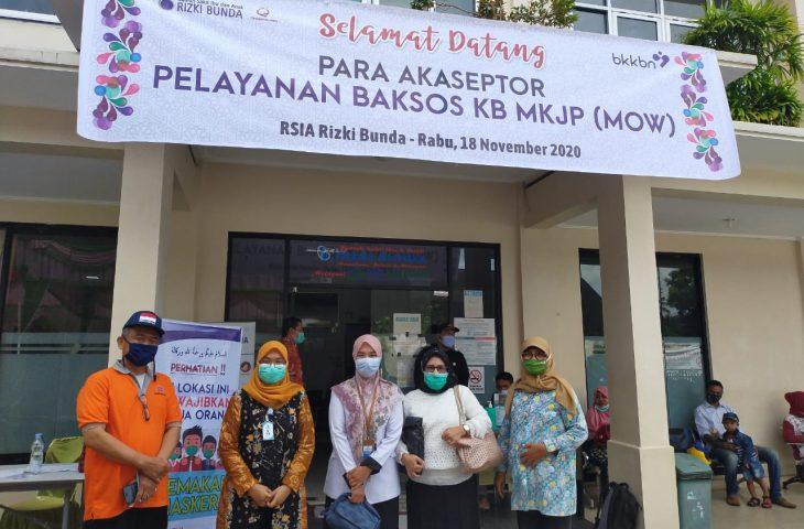 Pjs Bupati Agam Kunjungi Baksos Pelayanan KB MKJP MOW di RSIA Rizki Bunda