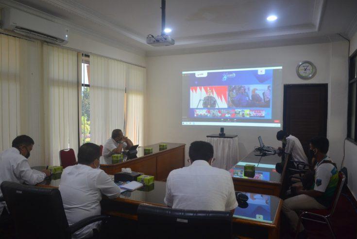 Pjs Bupati Agam Hadiri Rakornas Pengadaan Barang dan Jasa Pemerintah Secara Virtual
