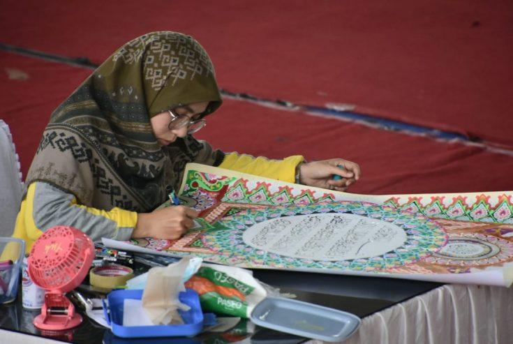 Kafilah Sumbar Asal Agam Masuk Final MTQ Nasional XXVIII di Cabang Khattil Qur'an