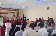 Konferensi Pers Akhir Tahun 2020, Polres Agam Ungkap 5 Kasus Menonjol