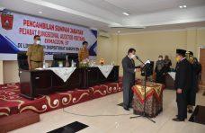 Kepala Inspektorat Agam Lantik Pejabat Fungsional Auditor Pertama