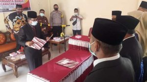 Camat Baso Lantik Anggota Bamus Padang Tarok Periode 2021-2027