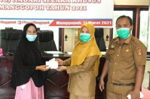Sebanyak 65 KPM di Manggopoh Terima BLT DD Tahap I-2021
