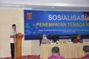 Wabup Agam Buka Sosialisasi Penempatan Kerja DPMPTSP Naker