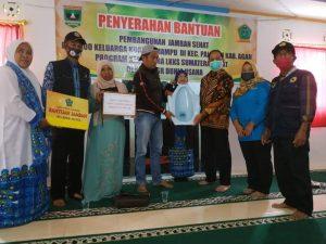100 KK Kurang Mampu di Palupuah Terima Bantuan Jamban Sehat Dari LKKS Sumbar