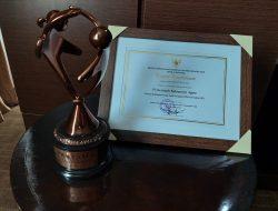 Agam Kembali Raih Penghargaan Bergengsi Tingkat Nasional